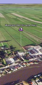 Open de webcam in Google Earth